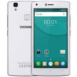 Doogee X5 MAX Pro 5.0 pulgadas 4G Smartphone Android 6.0 MTK6737 Quad Core Camaras Sensor de 1,3 GHz 2 GB de RAM 16 GB de ROM de la huella digital Blu