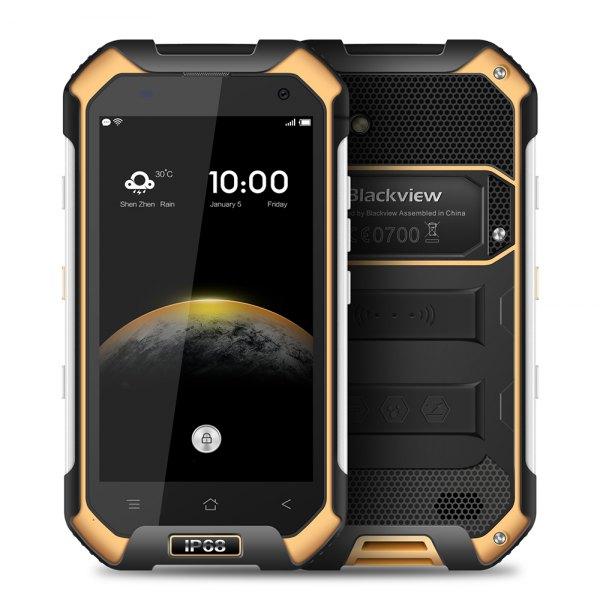 Blackview BV6000S Android 6.0 de 4,7 pulgadas 4G Smartphone MTK6735 1,3 GHz Quad Core 2 GB de RAM 16 GB de ROM impermeable a prueba de choques NFC GPS