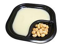 Crema de puerros coliflor y leche de coco