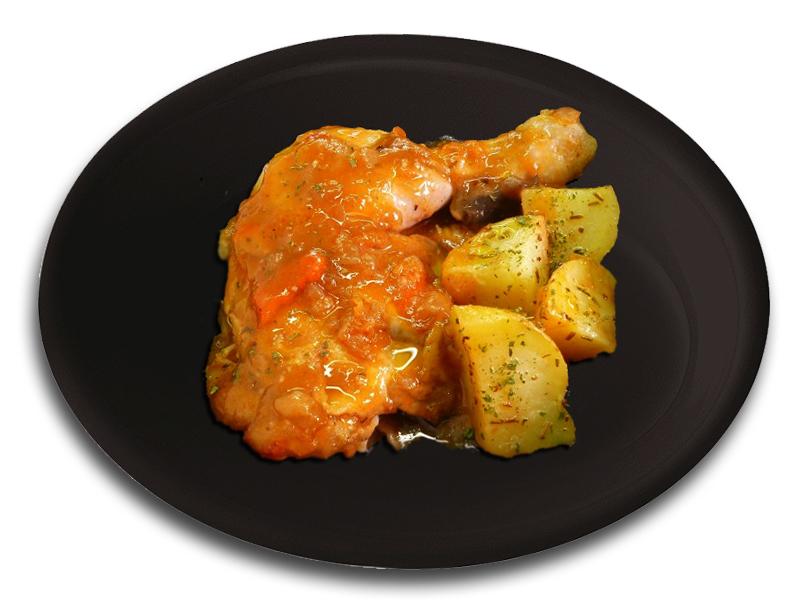 Muslo de pollo guisado con patatas al romero notizalia - Bacalao guisado con patatas ...