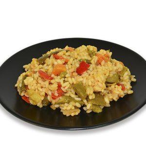 Arroz salteado con verduras y pimenton