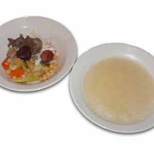 Cocido con fideos y garbanzos