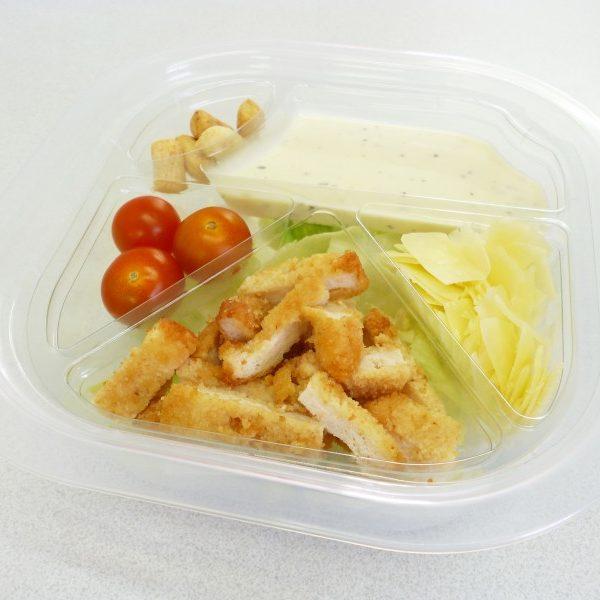 Ensalada con pollo y salsa Cesar