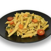 Macarrones integrales con verduras