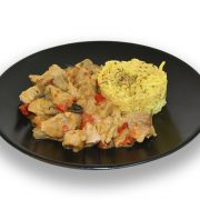 Pavo al curry red hot spicy