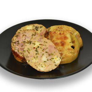 Roti de pollo relleno de queso