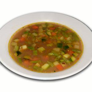 Sopa de miso con verduras y tofu ahumado