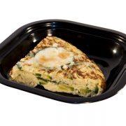 Tortilla de calabacin y cebolla