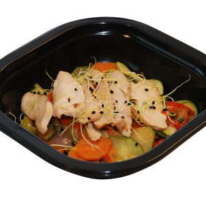 Wok de verduras con pollo oriental