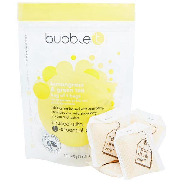 Bubble T Bath Infusion T-Bags - Lemongrass & Green Tea 10 x 40g