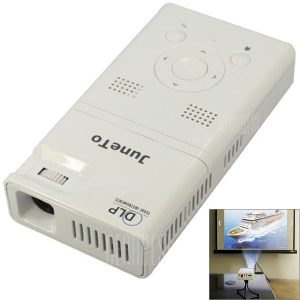 LZ - H100 Android 4.1 DLP 90lm digital de bolsillo de tamaño Mini proyector LED Blanco con 4GB/Bluetooth