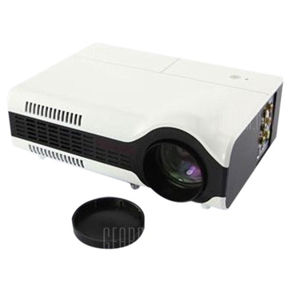 LED2+ 1500 lumenes 800 x 600 LCD LED Portatil Proyector de cine en casa 16: 9 de Relacion de Aspecto soporte HDMI/VGA/AV/USB/Video/TV