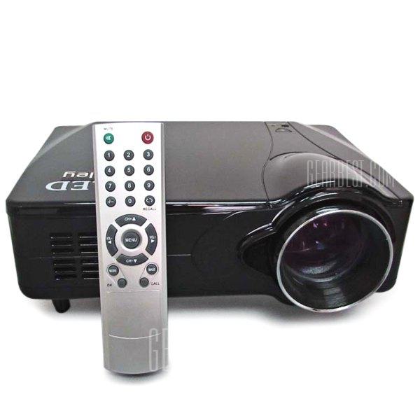 D9HB LED Proyector de entretenimiento para el Hogar Moda de exquisito diseño, relacion de aspecto 16:9 - Construido en los altavoces compatibles con HDMI / AV / VGA