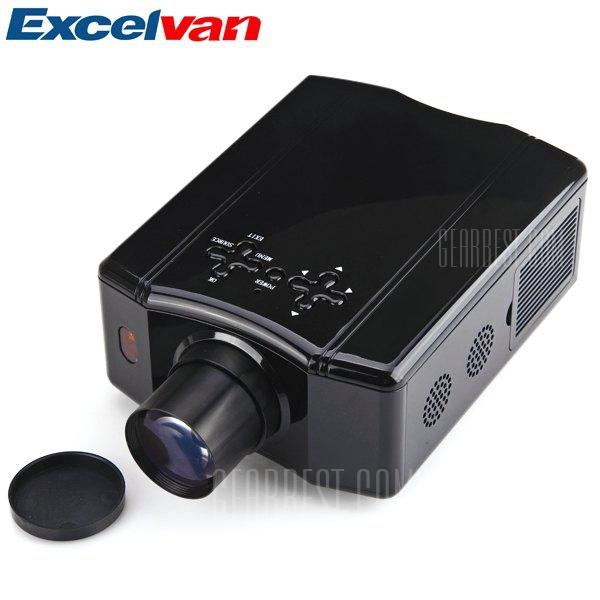 EXCELVAN DS86 150 Lumens LCD 4:3 movil proyector LED 640 x 480 2000:1 proporcion de contrato Soporte AV/SV/YPRPB/VGA/HDMI/USB