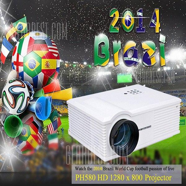PH580 LCD 3200 lumens de contraste de 2000:1 proyector LED admite HDMI TV USB VGA AV - enchufe para UE