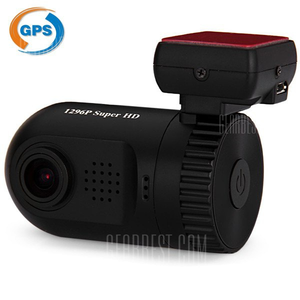 Mini 0803 1.5 pulgadas Ambarella A7L50 1269P H.264 Dash camara Super 8 GB HD coche DVR 128 grados de angulo amplio lente grabadora de video con soporte GPS Video Play