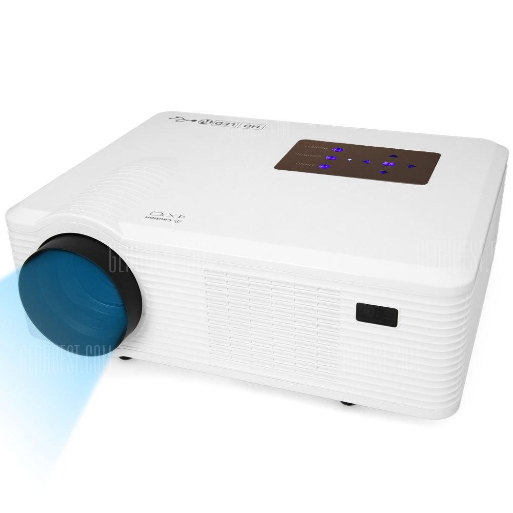 CL740D Multimedia 2400LM 800 x 800 pixeles LED Proyector con interfaz de television digital compatible con 1080P - enchufe para UE