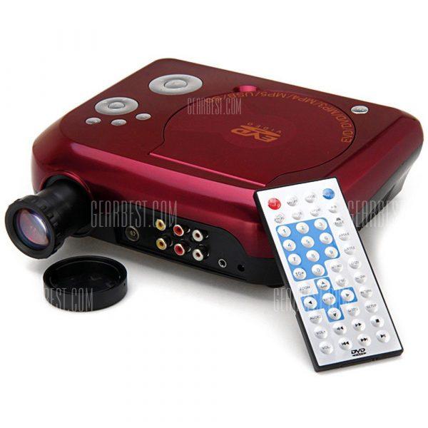 KSD - 288 40 Lumenes de 480 x 320 pixeles LED Mini proyector DVD compatible con MP3 MP4 MP5 Input