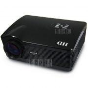 UhAPPy U-3 proyector LCD 3000LM 1280 x 768 pixeles con la correccion trapezoidal de Control remoto por infrarrojos compatible con 1080P
