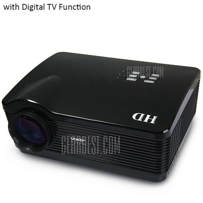 UhAPPy U-1 proyector LCD 3000LM 1280 x 768 pixeles, Control remoto por infrarrojos de correccion Keystone con funcion de TV digital compatible con 1080P