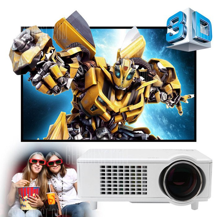 Excelvan CL720D LED Proyector con ranura de TV digital