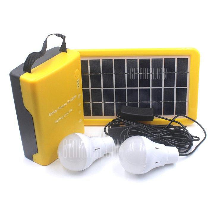 Energia solar portatil ultraligero acampar al aire libre Sistema de iluminacion Kits de iluminacion domestica