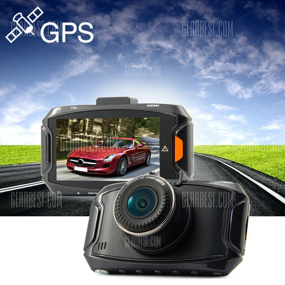 Dome GS90A 1296P HD de 2,7 pulgadas super 5MP 170 grados DVR coche GPS