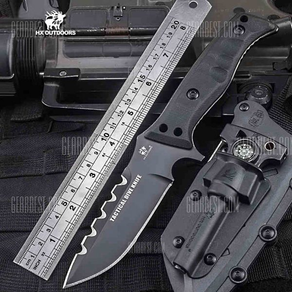 HX AFUERA D-141 Outdoor 58HRC de cuchillas rectas