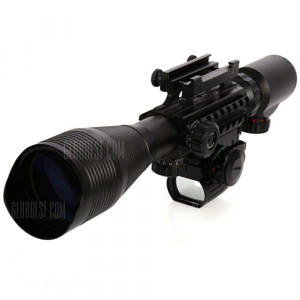 4 tactico - 12 x 50EG rifle scope iluminada con laser rojo y Red Dot Sight de reticula rojo / verde monte