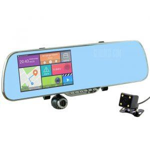 U-ruta V60-8GB 1080P 170 grados DVR coche Espejo retrovisor GPS