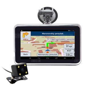 U-ROUTE QZ880 1080P 160 grados DVR coche Navegacion GPS