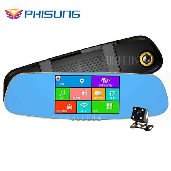 A07 PHISUNG Android 1080P FHD coche GPS espejo retrovisor