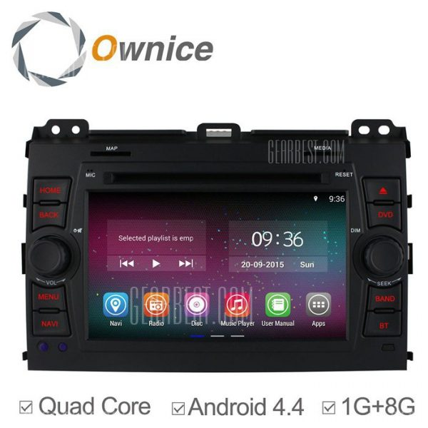 Ownice-OL-7603C200 un Android 4.4.2 7.0 coche DVD GPS Reproductor multimedia