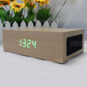 C75 de madera Altavoces estereo Bluetooth 3.0 Multifuncion