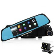 A700 Junsun Android Navegador GPS Espejo retrovisor coche DVR con mapa gratuito
