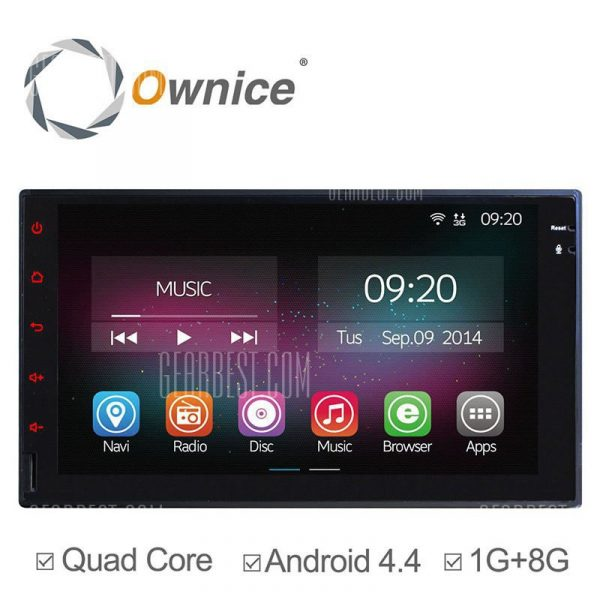 C200: Ownice OL - 7001un Android 4.4.2 7.0 pulgadas GPS coche Reproductor multimedia