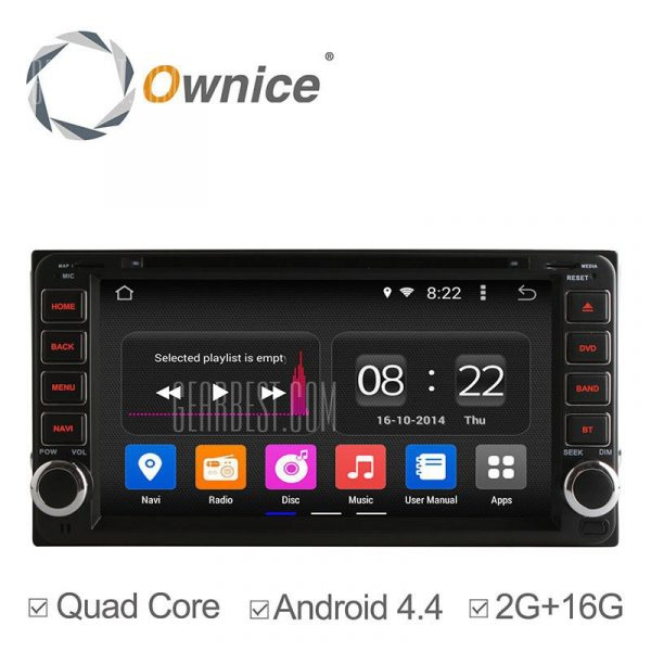 Ownice C180 - OL - 7699B Android 4.4.2 6.95 pulgadas de coche DVD GPS Reproductor multimedia