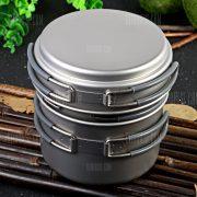 Keith KP6014 de tres piezas de titanio utensilios olla
