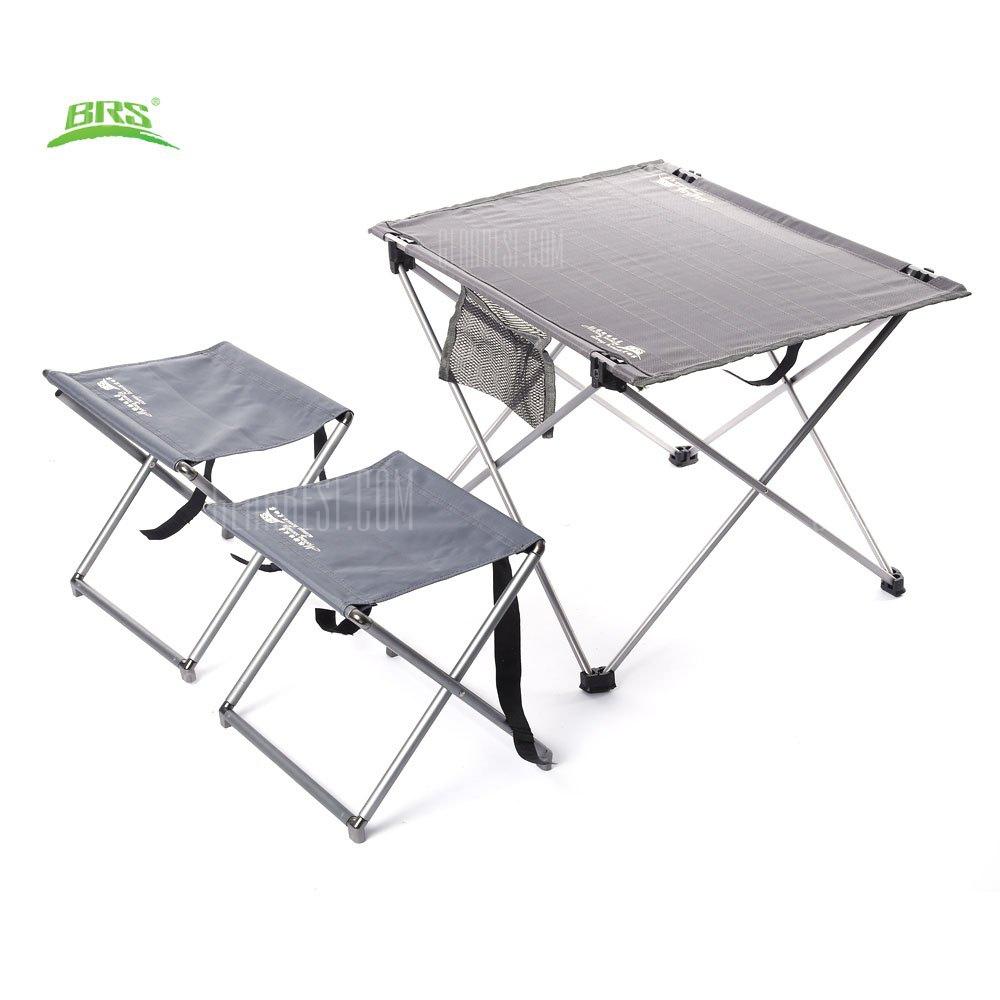 BRS – T03 3pcs / Set portatil Oxford tejido exterior taburetes mesa plegable