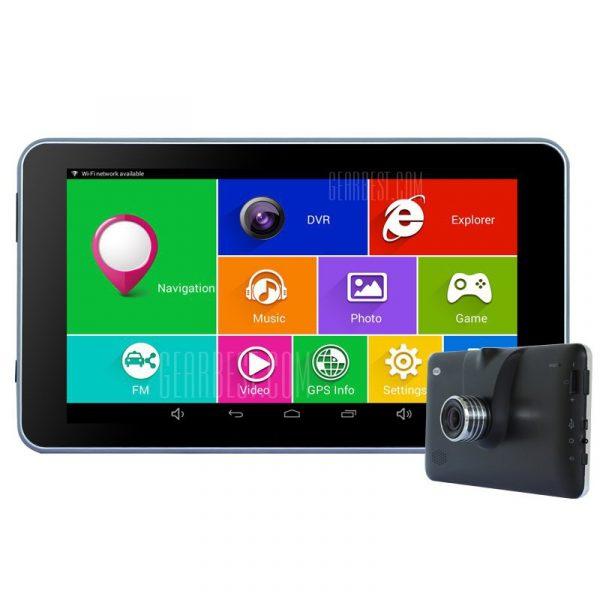 Un TiaiwaiT70-16GB-AVIN 1080P 140 grados DVR camara de navegacion GPS de coche