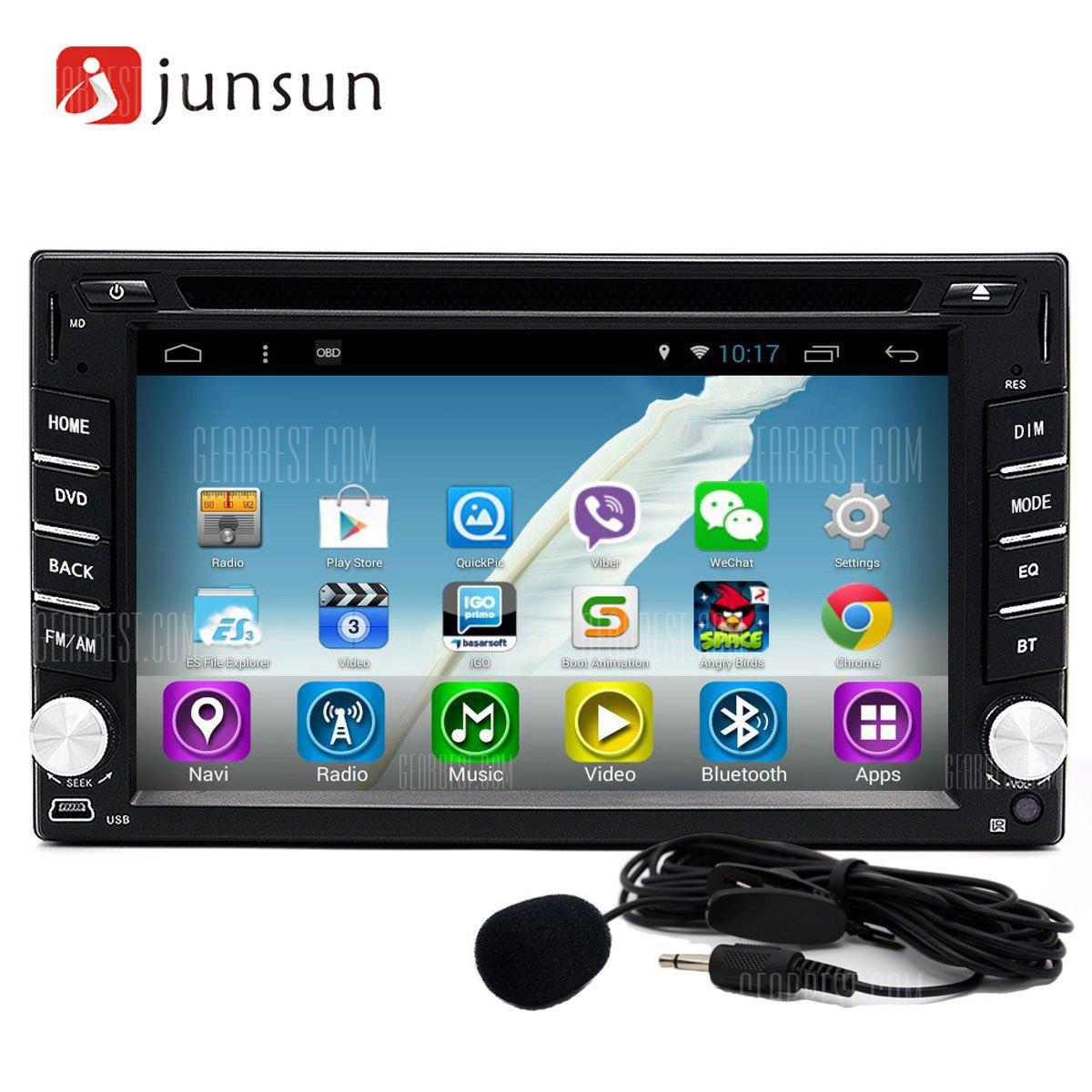 Junsun R166 Android 4.4 6.2 pulgadas Reproductor multimedia de DVD para el coche