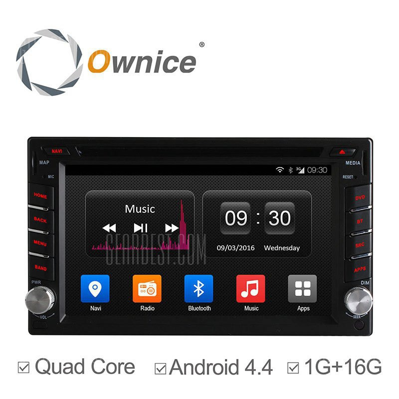 C300 Ownice OL - 6666T Android 4.4 6.2 pulgadas GPS coche reproductor de DVD