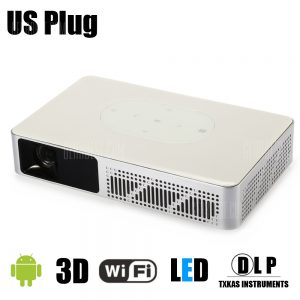 Y - 9 DLP proyector 3D Android 4.4 Smart TV Box