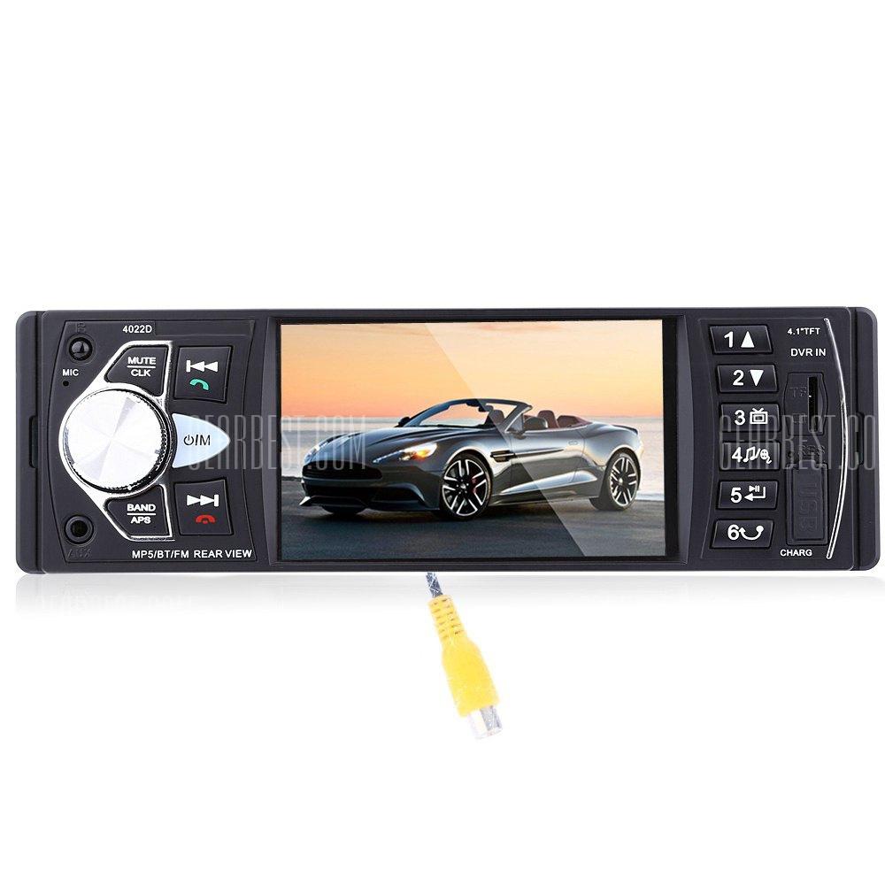 4022D 4.1 pulgadas coche MP5 Player con control remoto camara