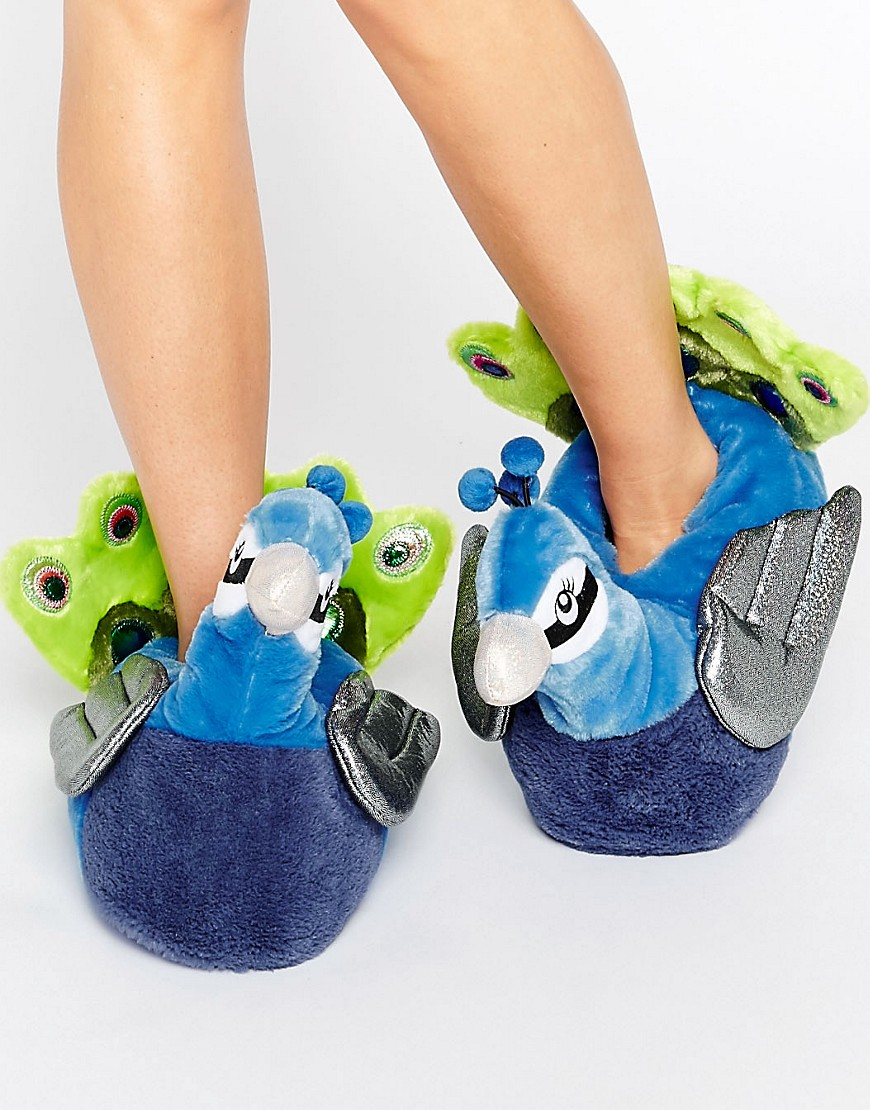 Pantuflas con pavo real NAYLA en ofertas calzado