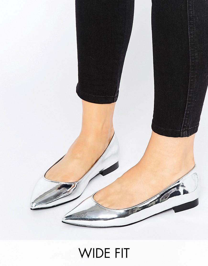 Bailarinas en punta de corte ancho LACEY en ofertas calzado