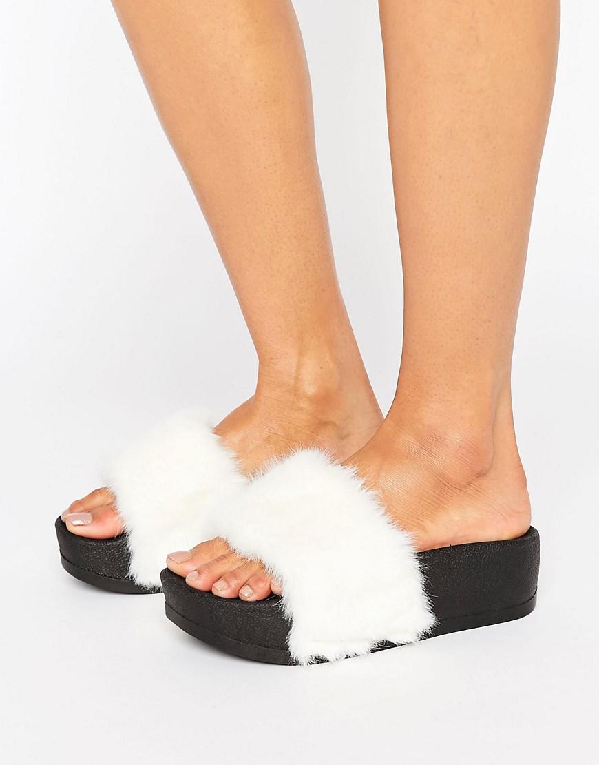 Sandalias con plataforma de goma y parte superior de piel sintetica FIRECRACKER en ofertas calzado