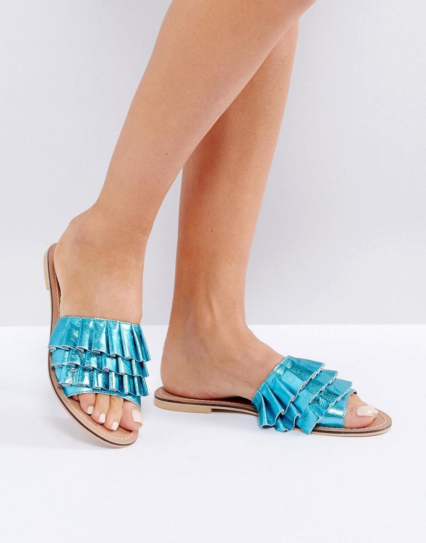 Sandalias de cuero con volantes FION en ofertas calzado