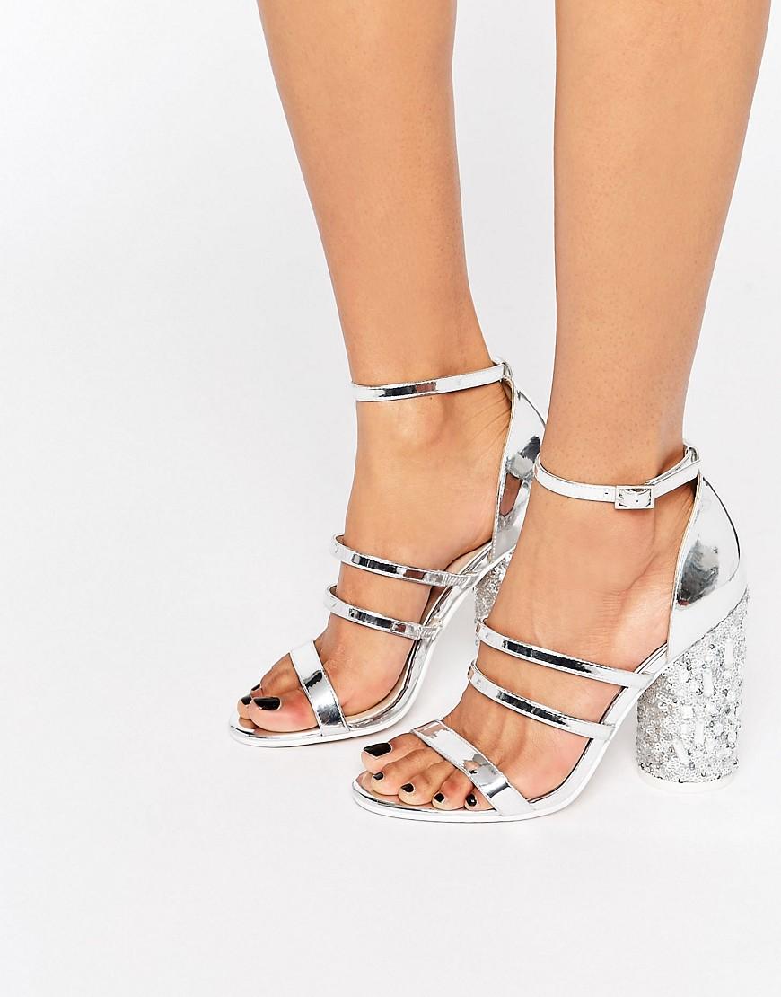 Sandalias de tacon con adornos HERO en ofertas calzado