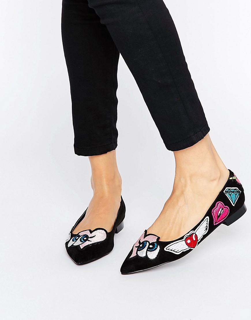 Bailarinas planas con puntera de punta LUSTFUL en ofertas calzado